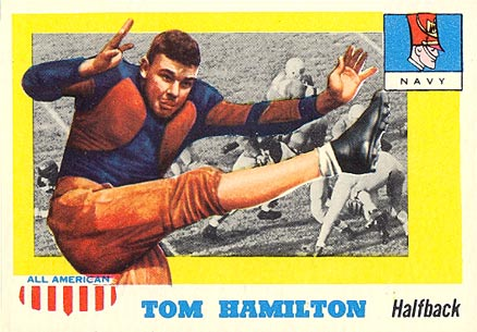 1955 Topps All-American Tom Hamilton #9 Football Card