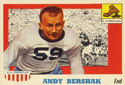 1955 Topps All-American Andy Bershak #7 Football Card