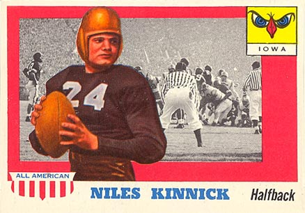 1955 Topps All-American Niles Kinnick #6 Football Card