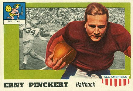 1955 Topps All-American Ernie Pinckert #4 Football Card