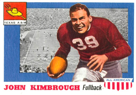 1955 Topps All-American John Kimbrough #2 Football Card
