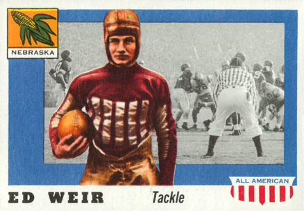 1955 Topps All-American Ed Weir #3 Football Card