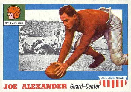 1955 Topps All-American Joseph Alexander #41 Football Card