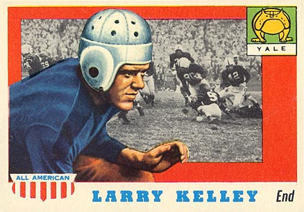 1955 Topps All-American Larry Kelley #26 Football Card