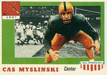 1955 Topps All-American Casimir Myslinski #25 Football Card