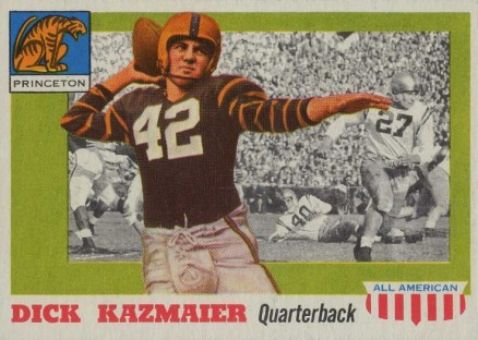 1955 Topps All-American Dick Kazmaier #23 Football Card