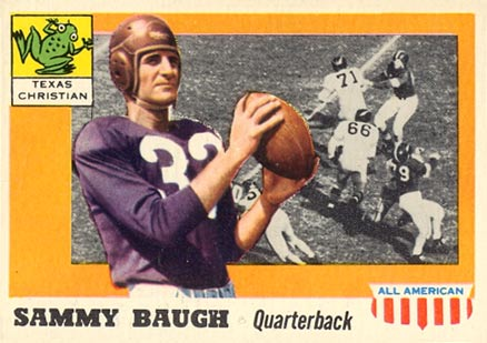 1955 Topps All-American Sammy Baugh #20 Football Card