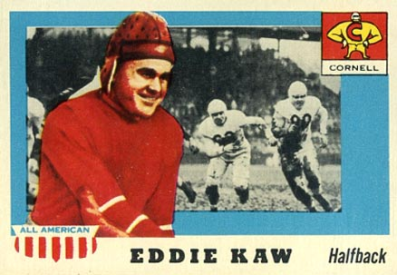 1955 Topps All-American Ed Kaw #15 Football Card