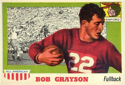 1955 Topps All-American Bobby Grayson #5 Football Card