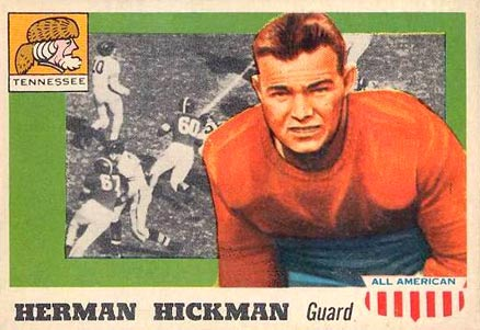1955 Topps All-American Herman Hickman #1 Football Card