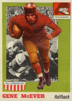 1955 Topps All-American Gene McEver #74 Football Card
