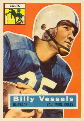1956 Topps Billy Vessels #120 Football Card