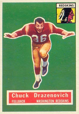 1956 Topps Chuck Drazenovich #37 Football Card