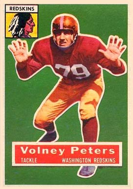 1956 Topps Volney Peters #73 Football Card