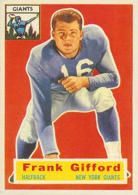 1956 Topps Frank Gifford #53 Football Card