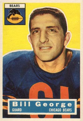 1956 Topps Bill George #47 Football Card
