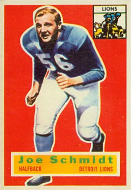1956 Topps Joe Schmidt #44 Football Card