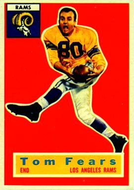 1956 Topps Tom Fears #42 Football Card