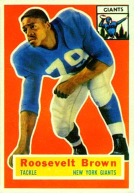 1956 Topps Roosevelt Brown #41 Football Card