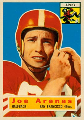 1956 Topps Joe Arenas #38 Football Card