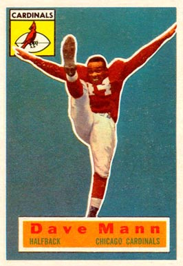 1956 Topps Dave Mann #34 Football Card