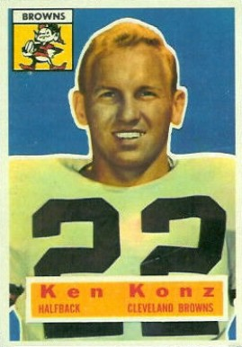 1956 Topps Kenny Konz #33 Football Card