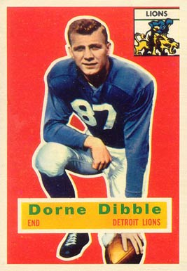 1956 Topps Dorne Dibble #32 Football Card