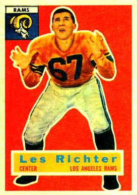 1956 Topps Les Richter #30 Football Card
