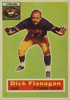 1956 Topps Dick Flanagan #27 Football Card