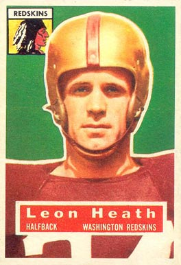 1956 Topps Leon Heath #25 Football Card