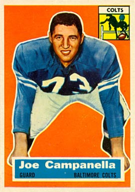 1956 Topps Joe Campanella #24 Football Card