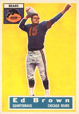 1956 Topps Ed Brown #23 Football Card