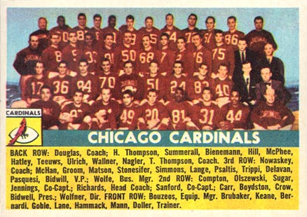1956 Topps Chicago Cardinals #22 Football Card