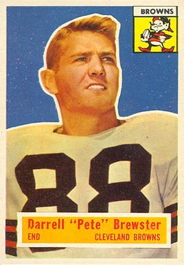 1956 Topps Darrell Brewster #21 Football Card