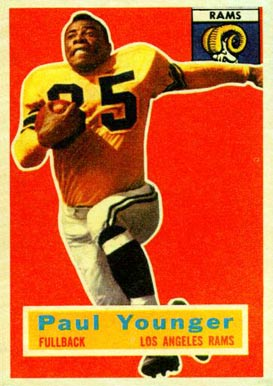 1956 Topps Tank Younger #18 Football Card