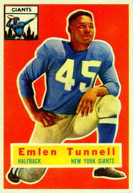 1956 Topps Emlen Tunnell #17 Football Card