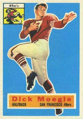 1956 Topps Dick Moegle #14 Football Card