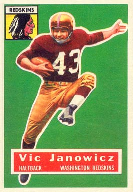 1956 Topps Vic Janowicz #13 Football Card