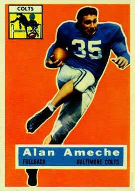 1956 Topps Alan Ameche #12 Football Card