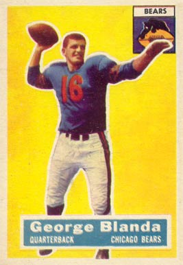 1956 Topps George Blanda #11 Football Card