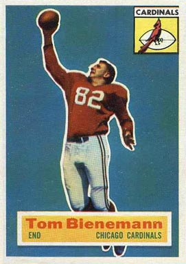 1956 Topps Tom Bienemann #10 Football Card