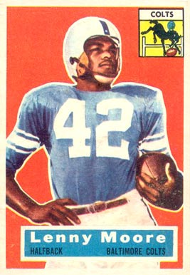 1956 Topps Lenny Moore #60 Football Card