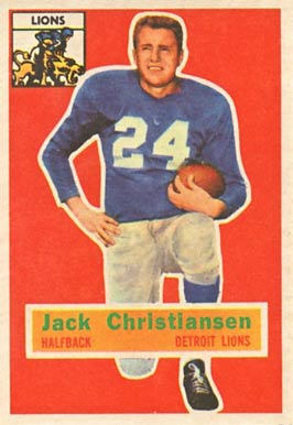 1956 Topps Jack Christiansen #20 Football Card