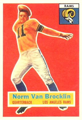 1956 Topps Norm Van Brocklin #6 Football Card