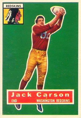 1956 Topps Jack Carson #1 Football Card