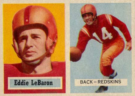 1957 Topps Eddie Lebaron #1 Football Card