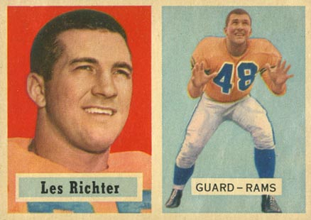 1957 Topps Les Richter #10 Football Card