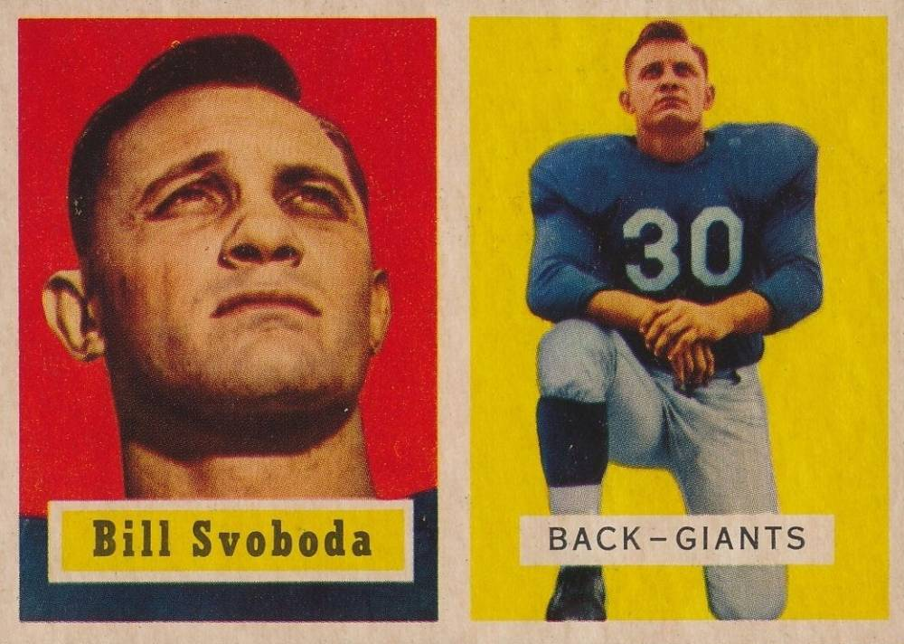 1957 Topps Bill Svoboda #153 Football Card