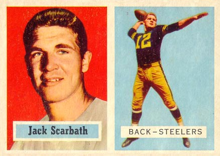 1957 Topps Jack Scarbath #126 Football Card