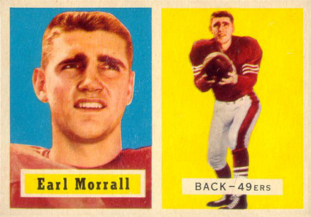 1957 Topps Earl Morrall #104 Football Card